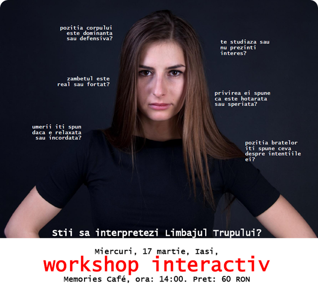 Limbajul trupului – Invata sa-l interpretezi. Workshop Interactiv.